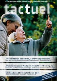 Titelbild der deutschen Ausgabe von tactuel 3 | 2016