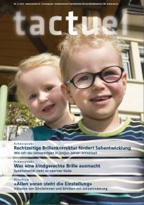 Coverbild der Ausgabe 2 / 2016: Zwei Kinder, eines mit Brille, rutschen auf einem Klettergerüst.